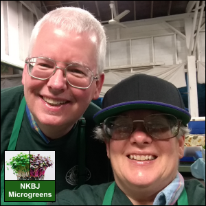 Michael and Vicki Simons of NKBJ Microgreens are eager to meet the needs of our customers through our Subscription Program. We provide delivery of our produce to homes and businesses in the greater Aiken, SC, area with a minimum $15 order.